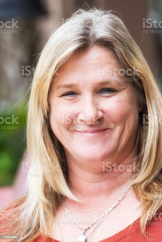 Smiling woman (real people) stock photo