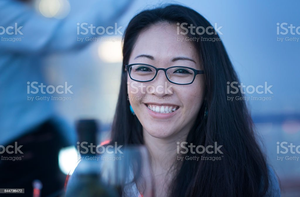 Smiling woman. stock photo
