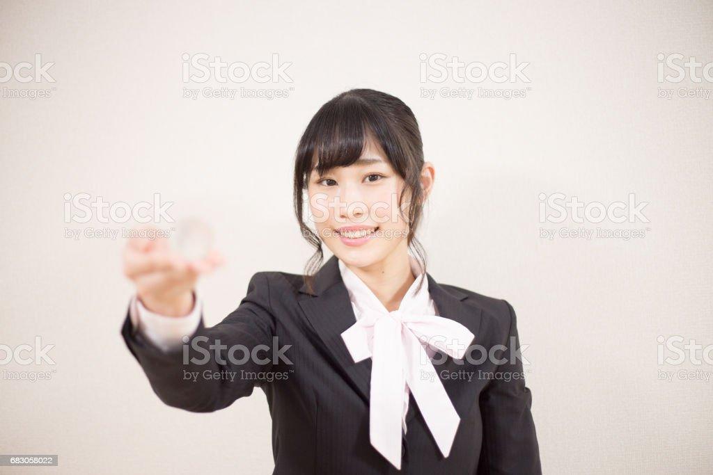 笑顔の女性 stock photo