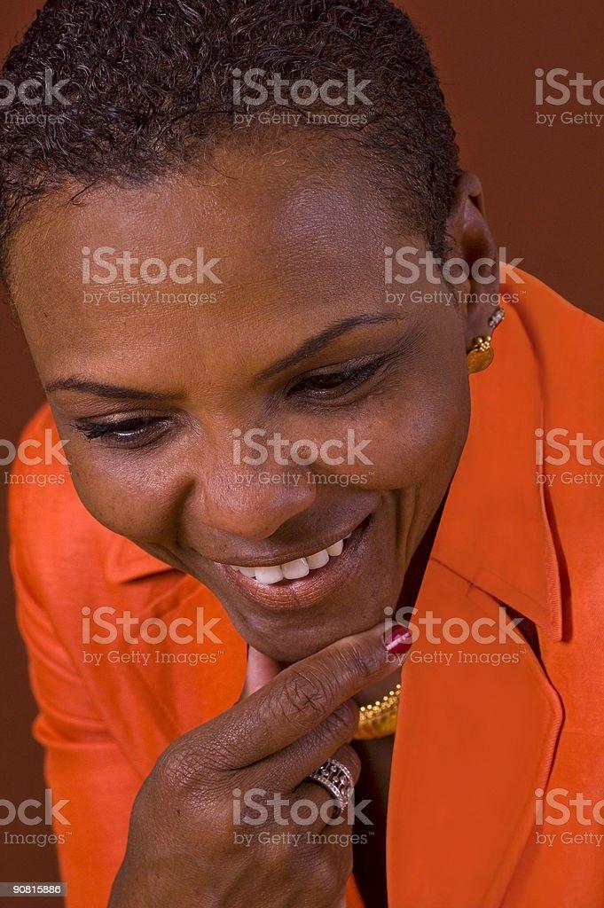Donna sorridente foto stock royalty-free