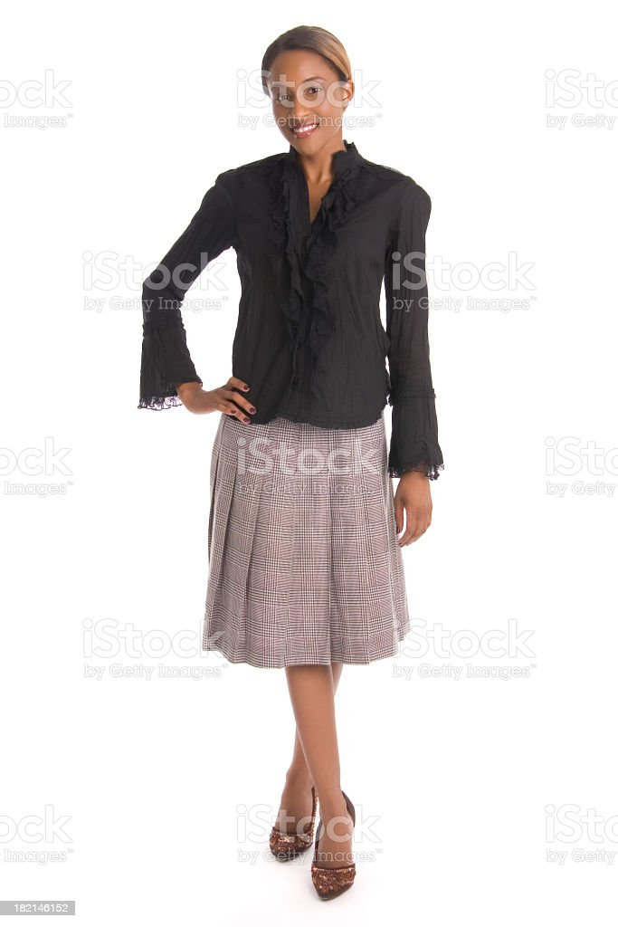 smiling woman posing royalty-free stock photo