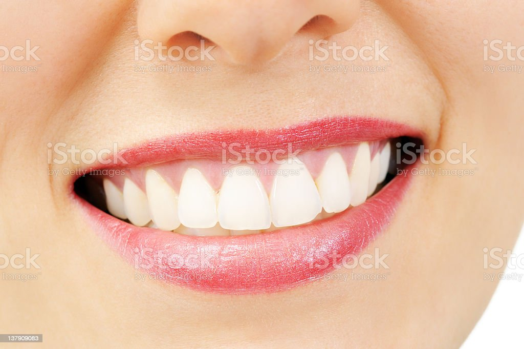 Smiling woman with great healthy white teeth royalty-free stock photo