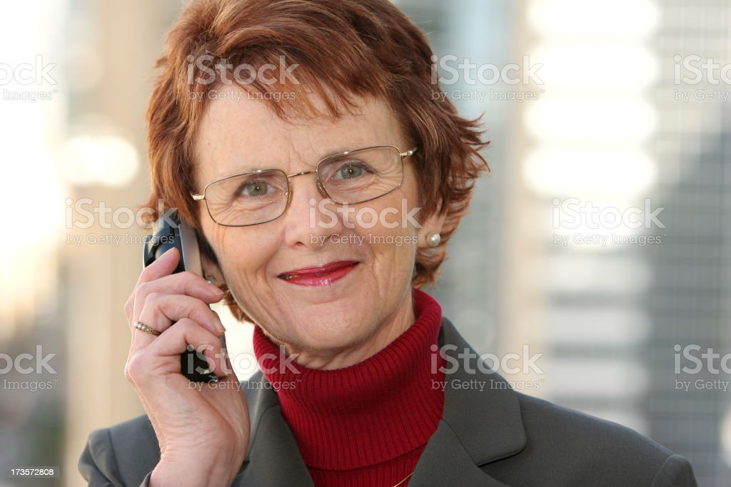 Smiling woman with phone. royalty-free stock photo