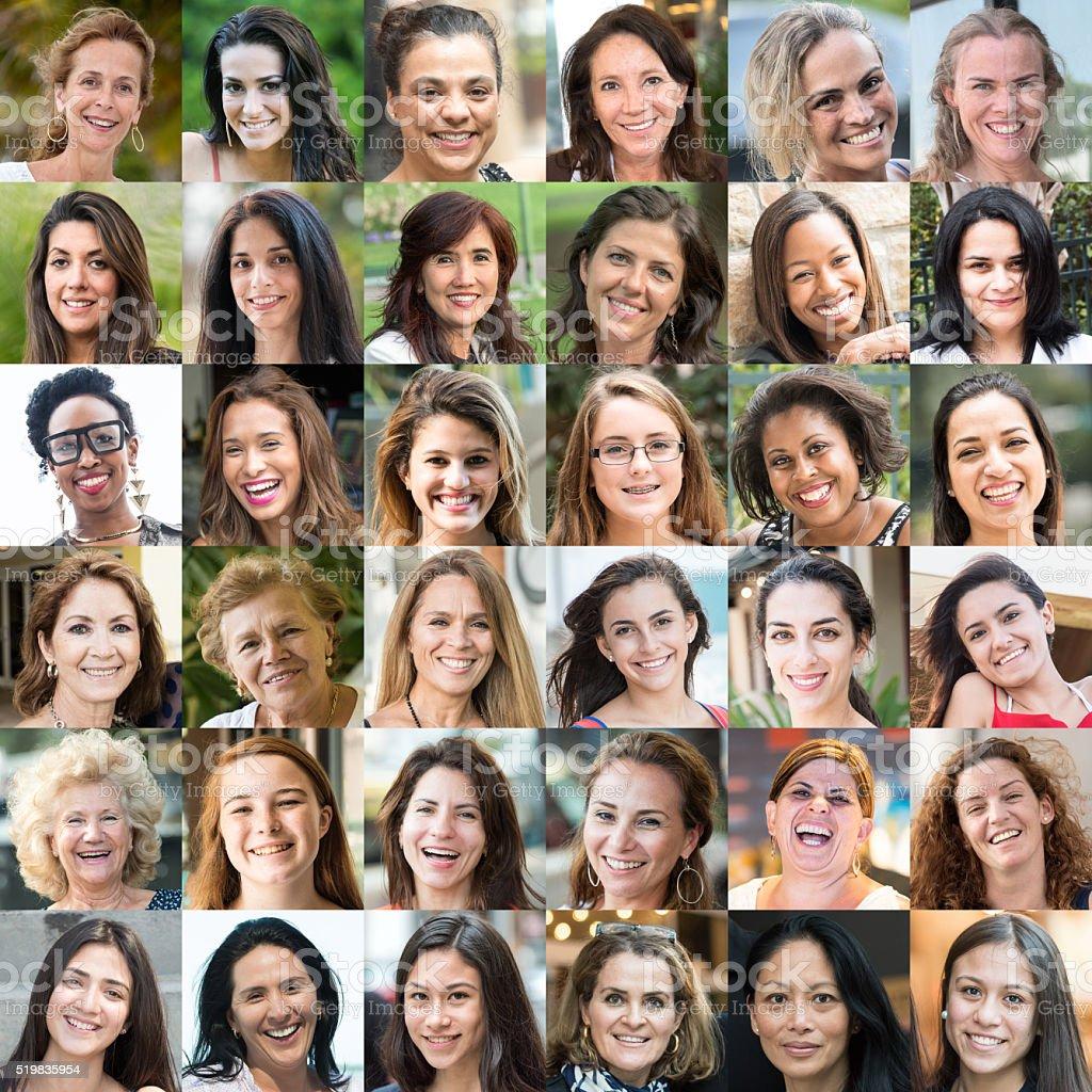 Smiling Women's Faces stock photo
