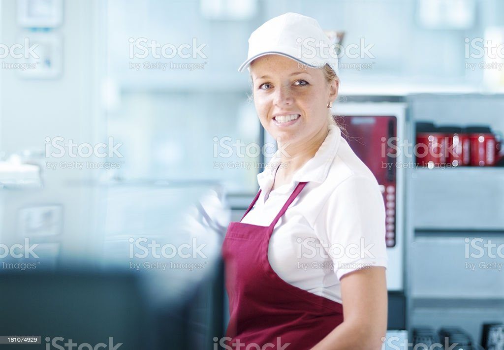Smiling worker stock photo
