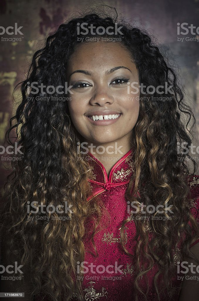 Smiling Young African American Woman royalty-free stock photo
