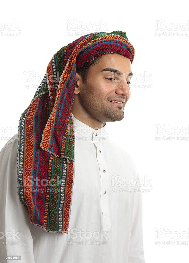 Smiling young arab man royalty-free stock photo