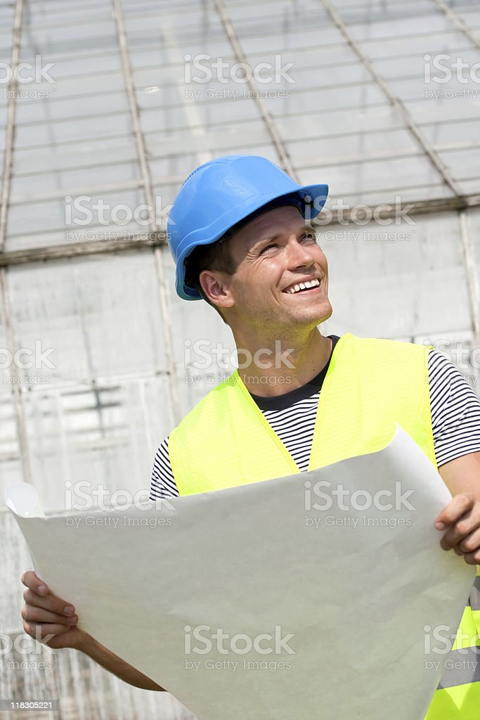 Smiling young architect royalty-free stock photo