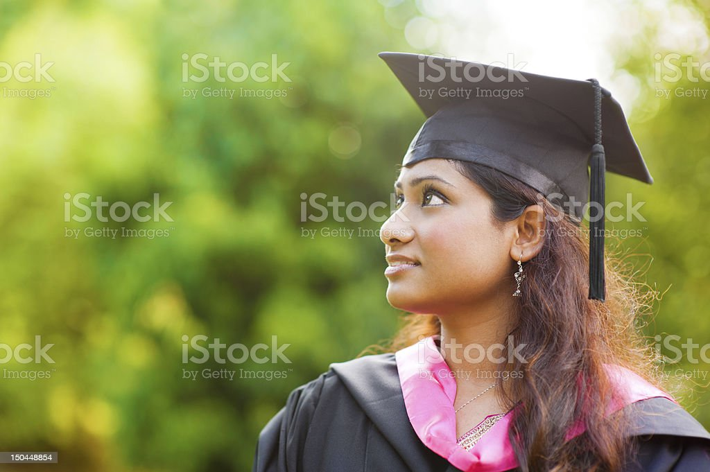 Smiling Young Asian Indian female stock photo