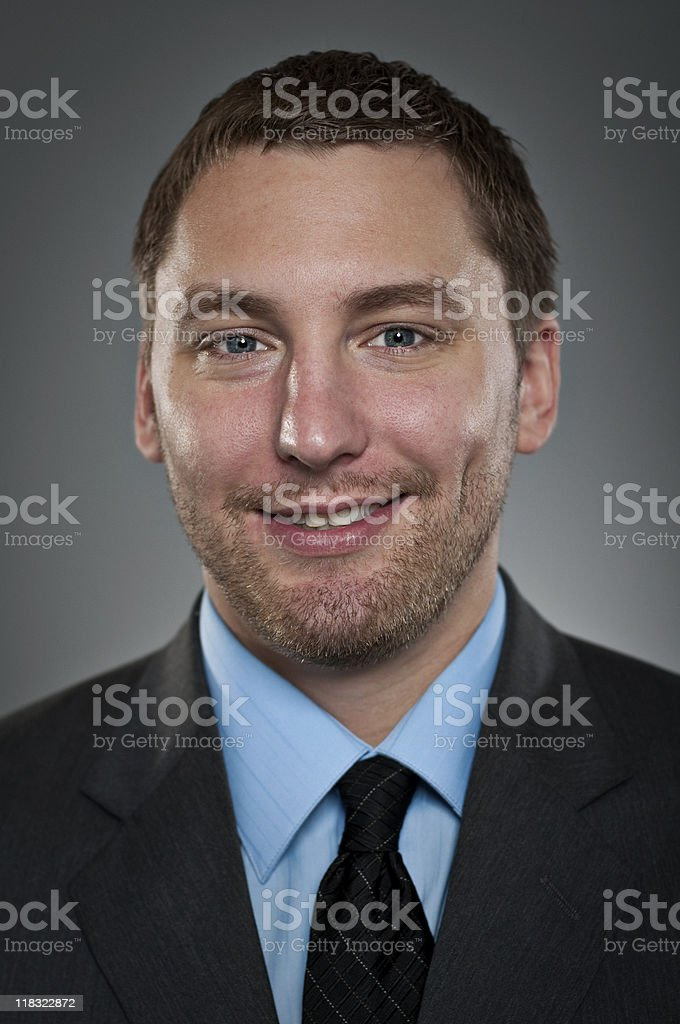 Smiling Young Businessman Portrait royalty-free stock photo