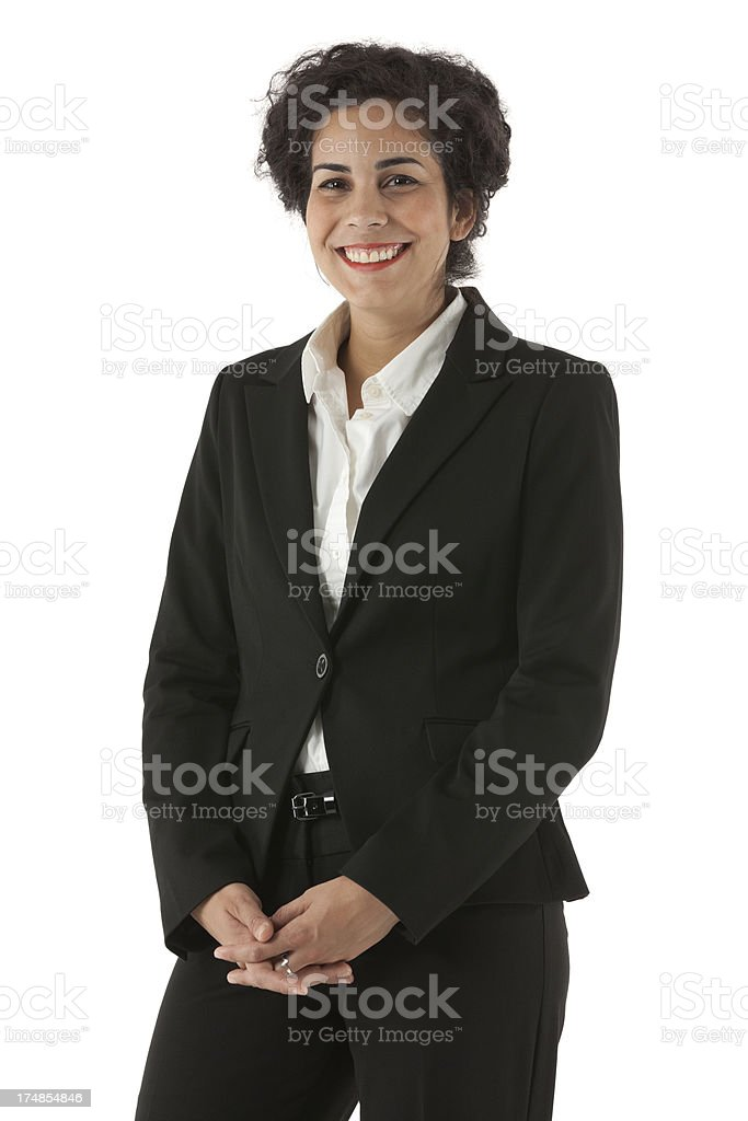Smiling young businesswoman posing royalty-free stock photo