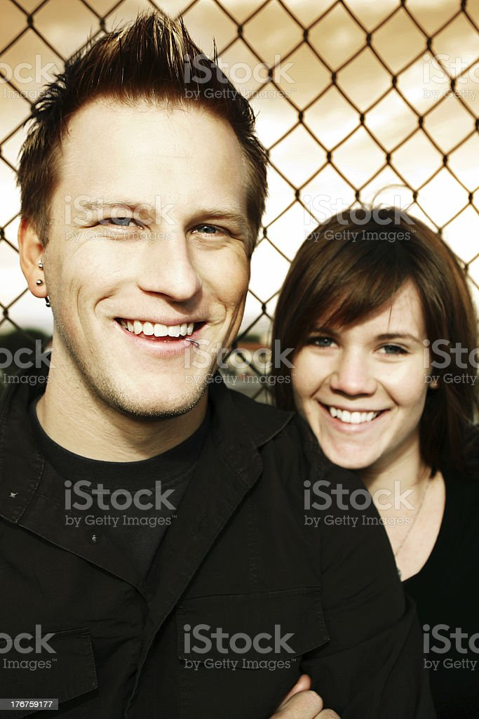 Smiling Young Couple royalty-free stock photo