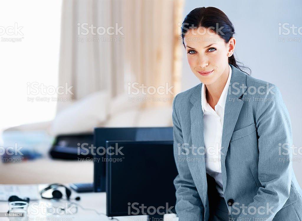 Smiling young executive stock photo