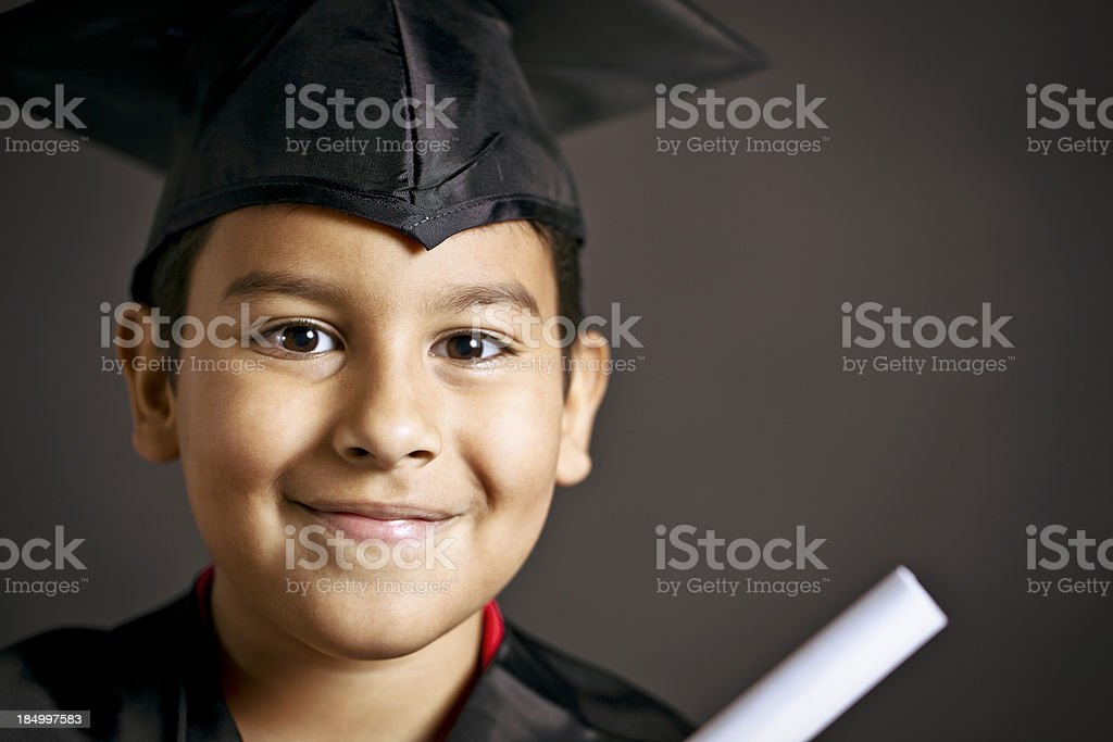 smiling young graduate royalty-free stock photo
