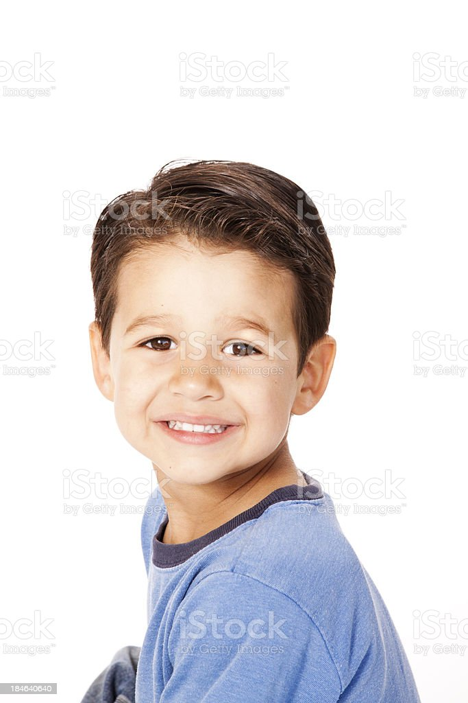 Smiling Young Hispanic Boy stock photo