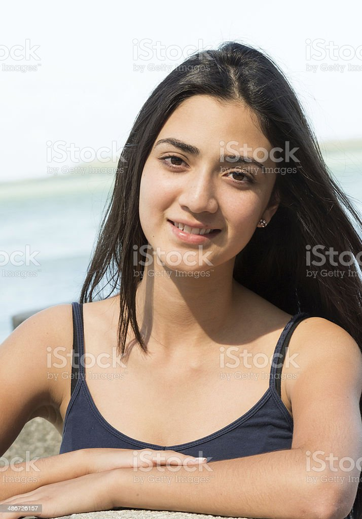 Smiling Young hispanic girl royalty-free stock photo