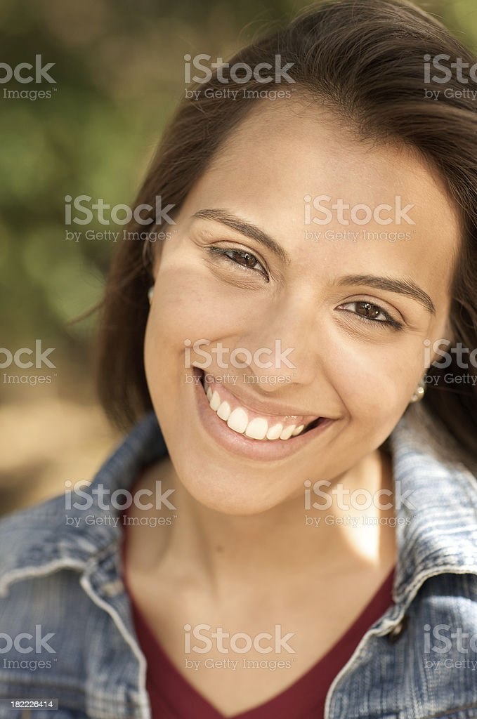 Smiling young Hispanic woman royalty-free stock photo