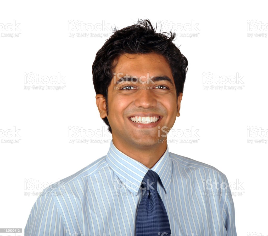 Smiling Young Indian Business Man royalty-free stock photo