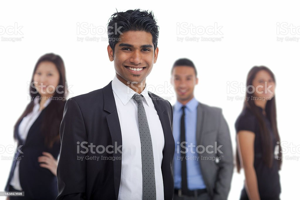 smiling young indian businessman royalty-free stock photo