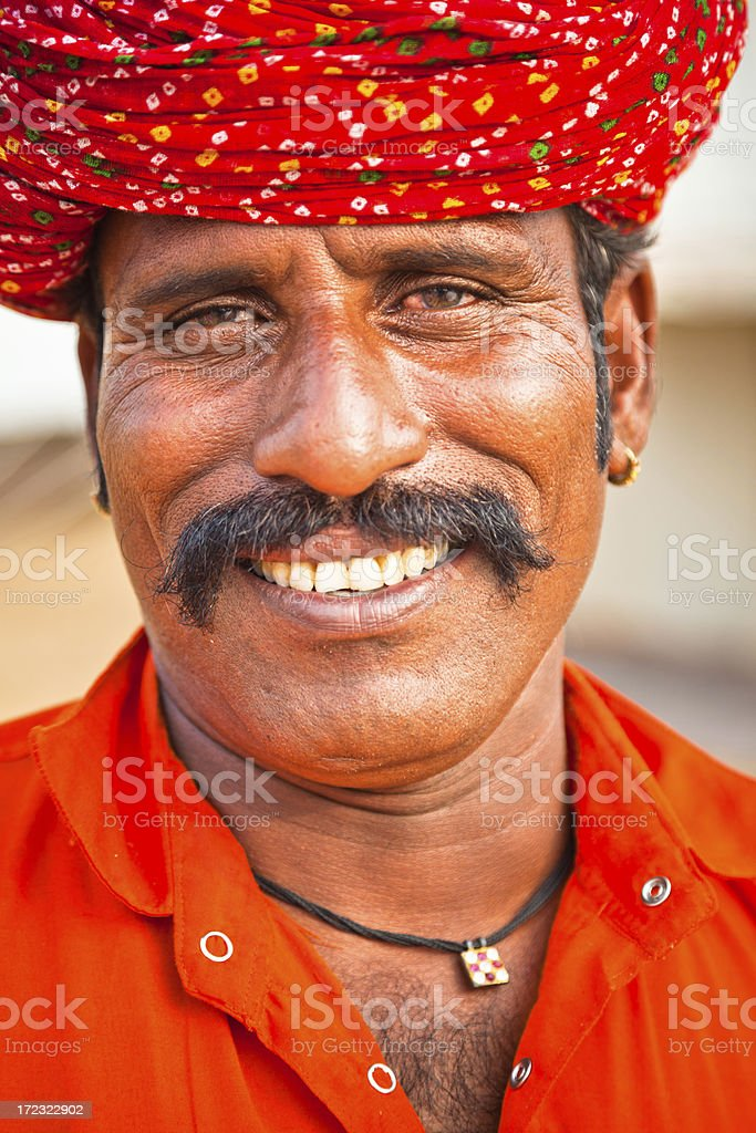 smiling young Indian man royalty-free stock photo