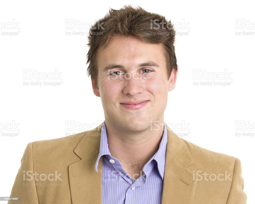 Smiling Young Man Headshot royalty-free stock photo