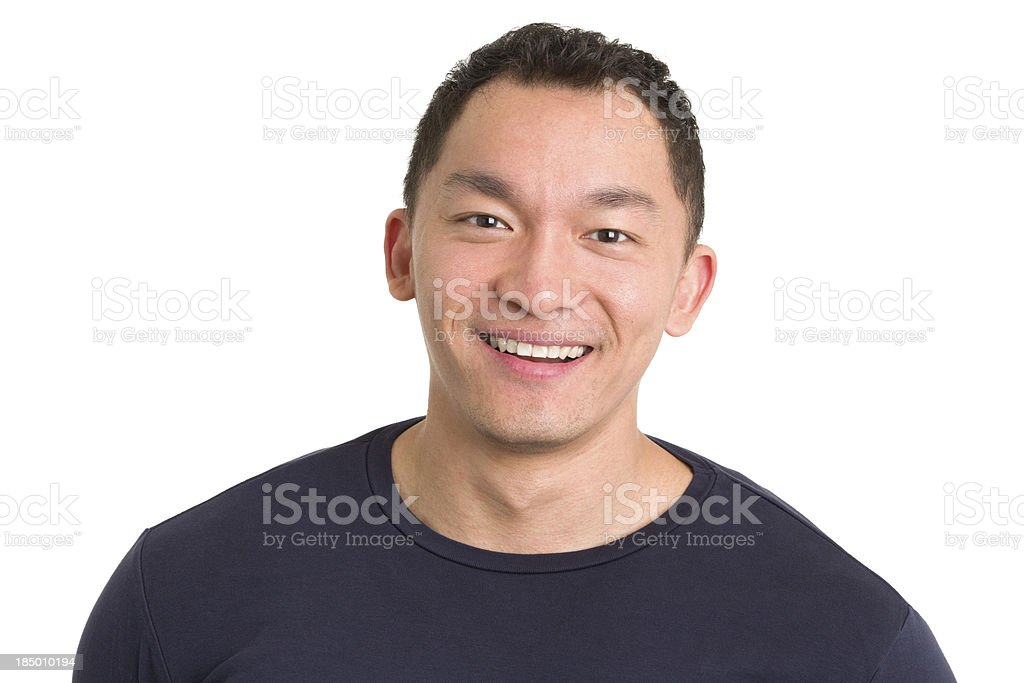 Smiling Young Man Headshot royalty-free stock photo