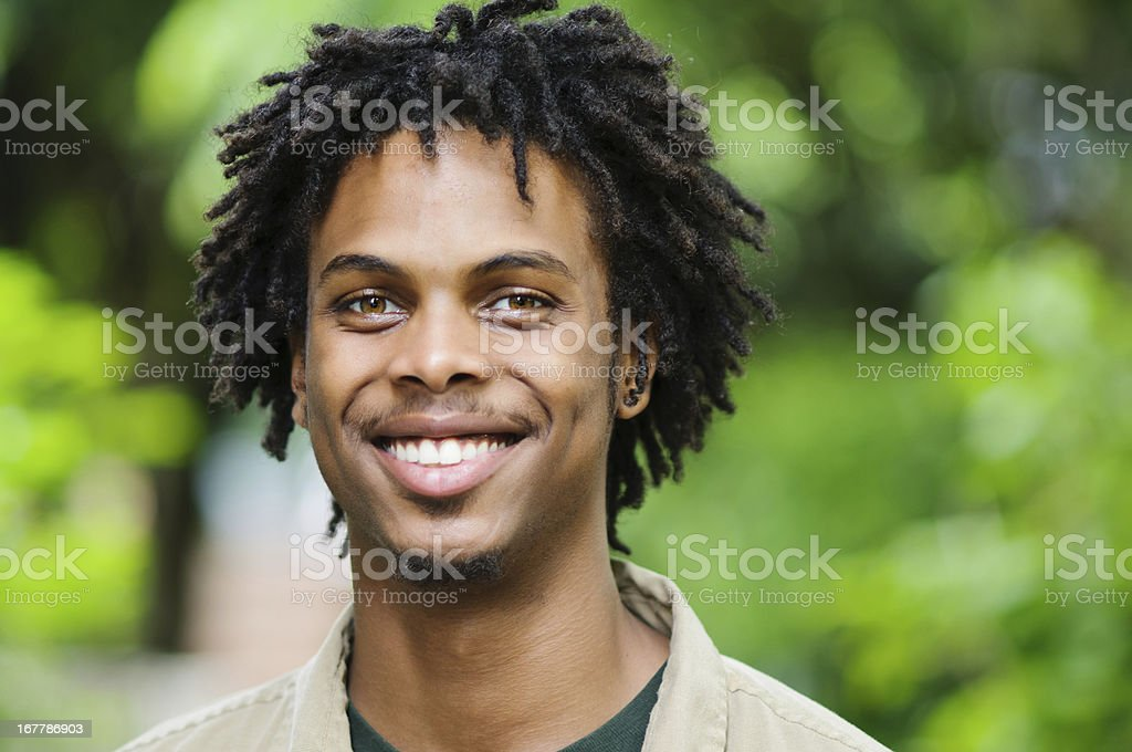 Smiling Young Man Outdoors stock photo