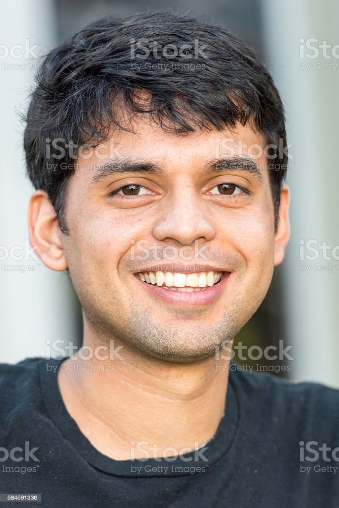 Smiling young man stock photo