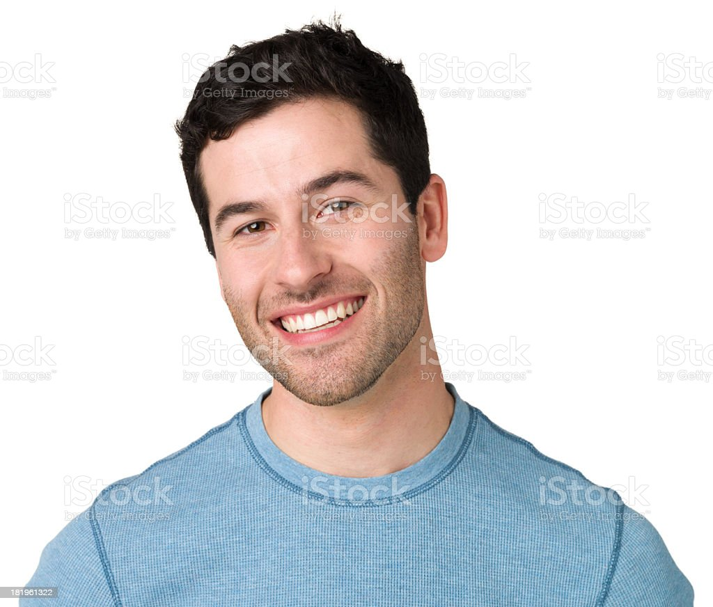 Smiling Young Man Portrait royalty-free stock photo