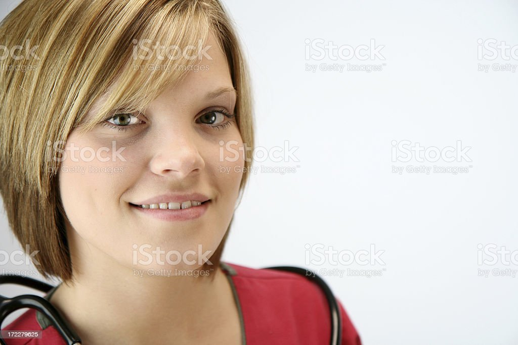 Smiling Young Nurse stock photo