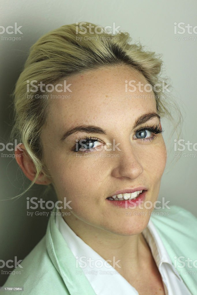 Smiling young professional stock photo