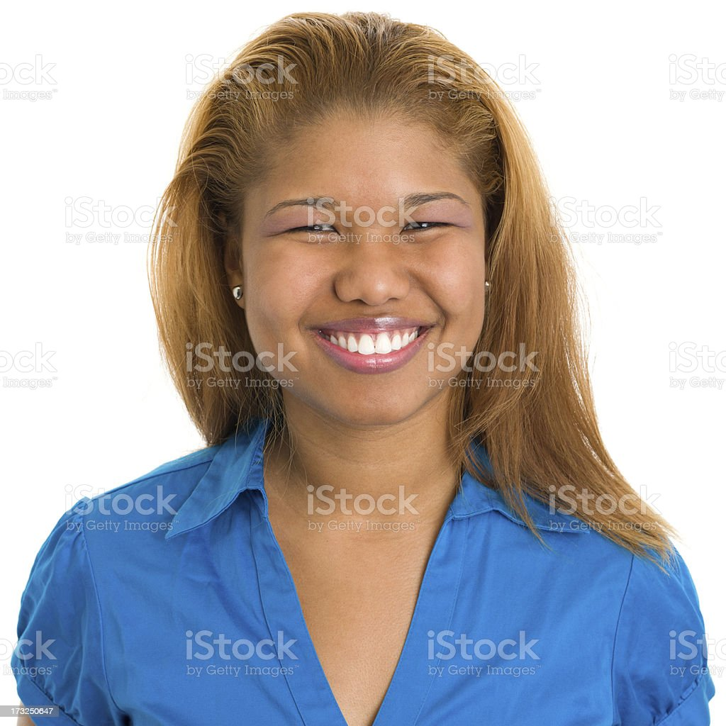 Smiling Young Woman Headshot royalty-free stock photo