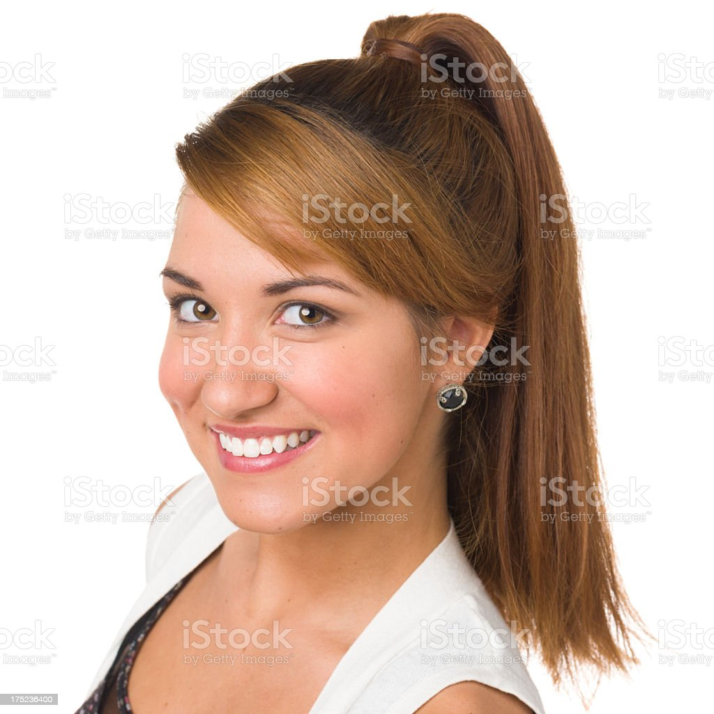 Smiling Young Woman Headshot royalty-free stock photo