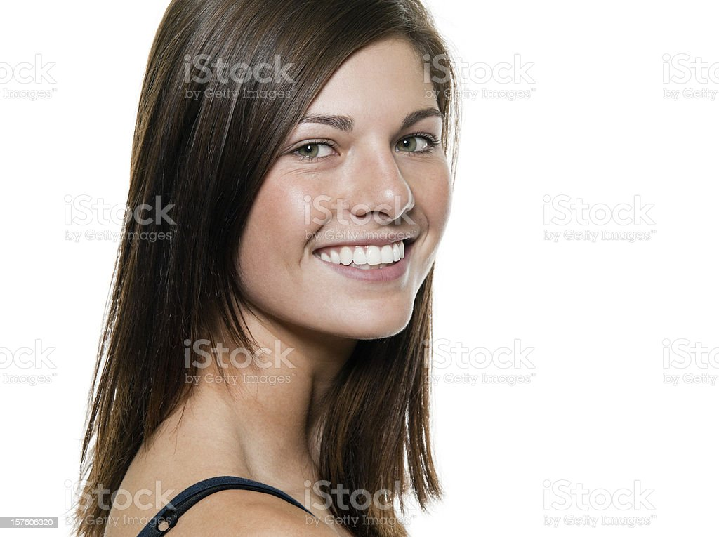 Smiling Young Woman royalty-free stock photo