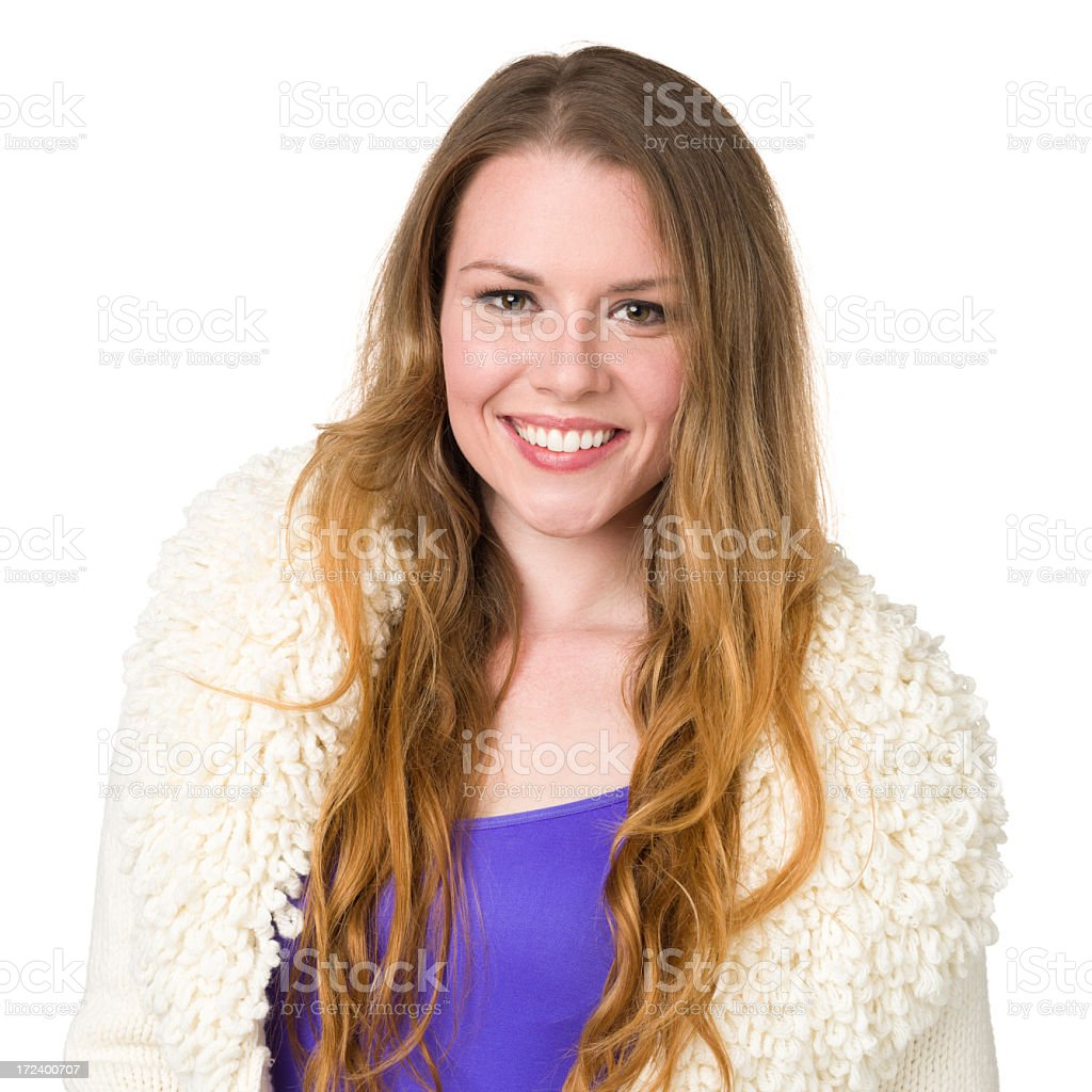 Smiling Young Woman Portrait royalty-free stock photo