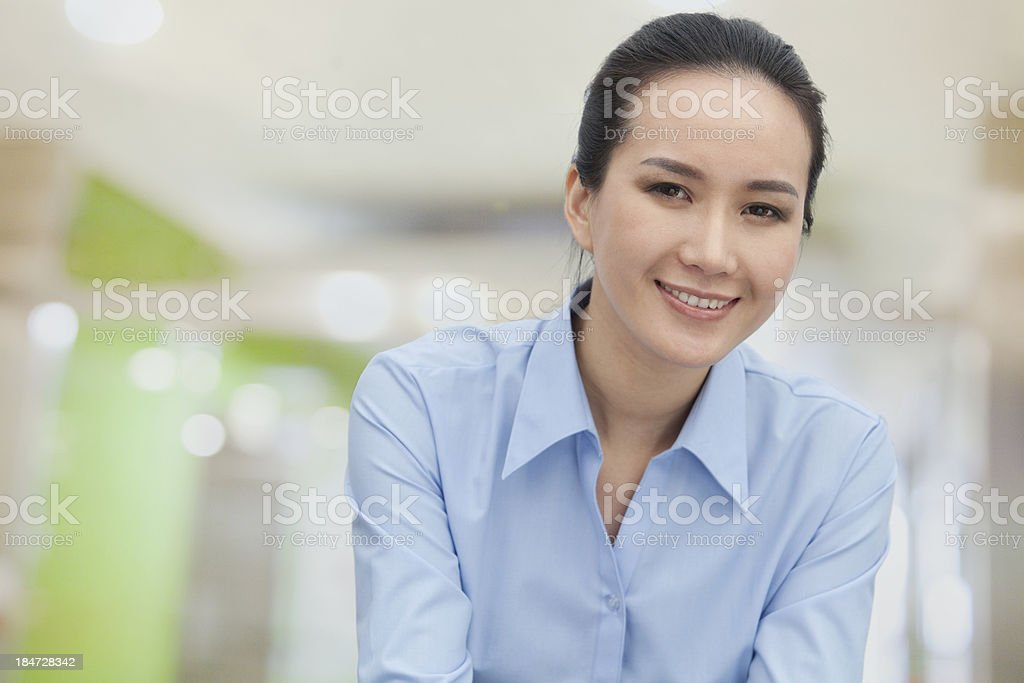 Smiling young woman, portrait royalty-free stock photo