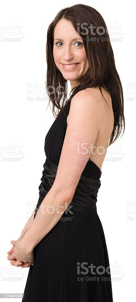 Smiling Young Woman Three Quarter Portrait royalty-free stock photo