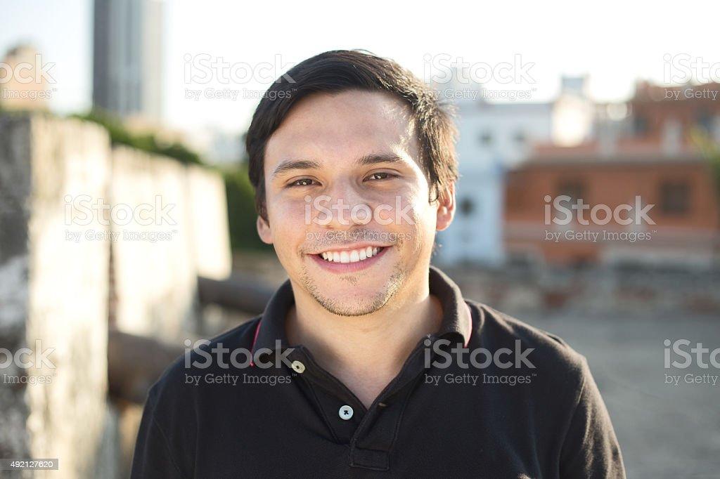 smily young man stock photo