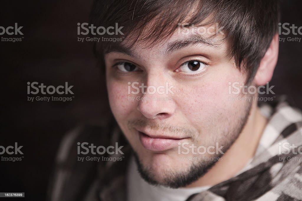 Smirk stock photo