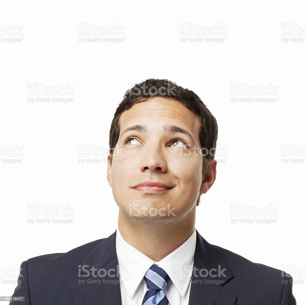 Smirking Businessman - Isolated royalty-free stock photo
