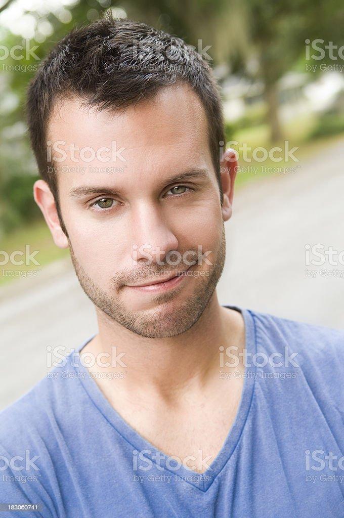 smirking male royalty-free stock photo