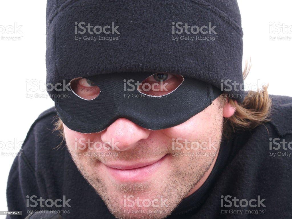 Smirking Robber! stock photo
