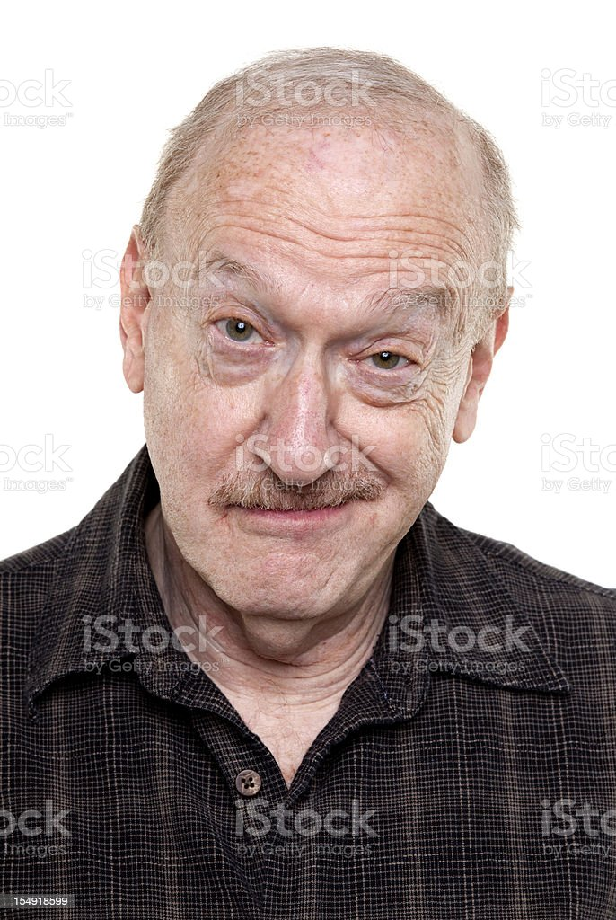 smirking senior man royalty-free stock photo