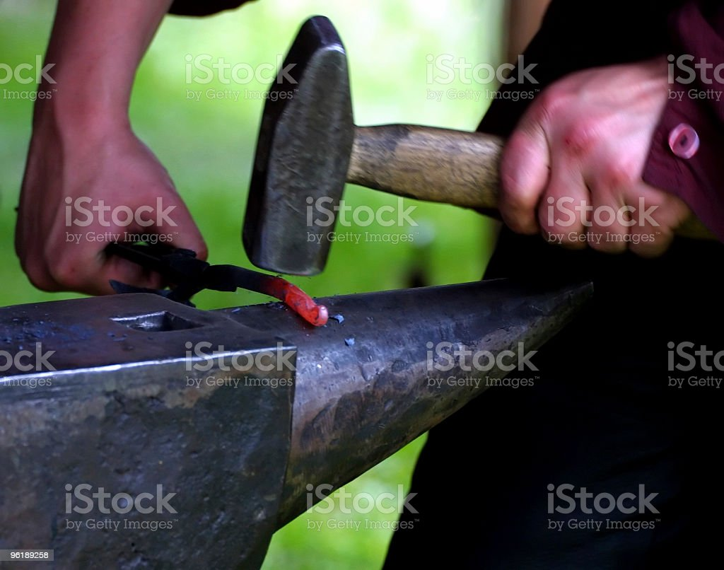 Smith at work royalty-free stock photo