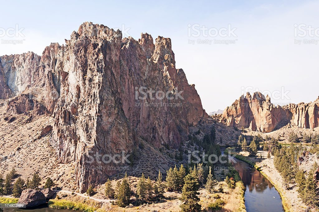 Smith Rock and Crooked River stock photo