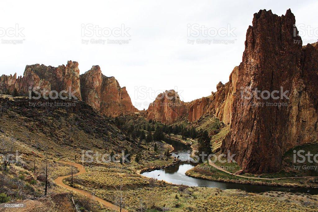 Smith Rock, Oregon royalty-free stock photo