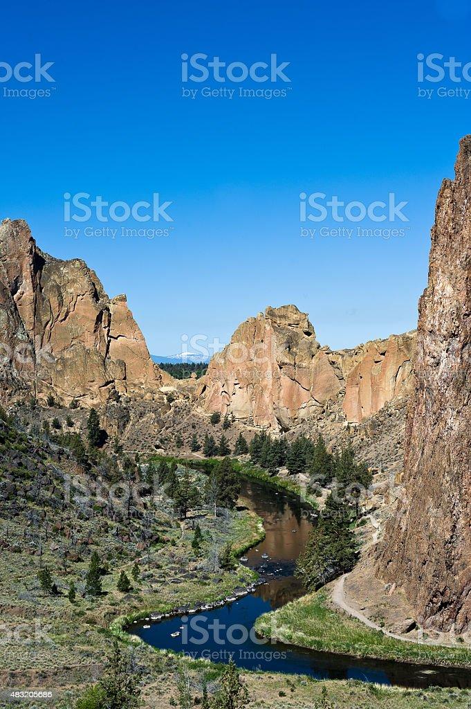 Smith Rock River Valley stock photo