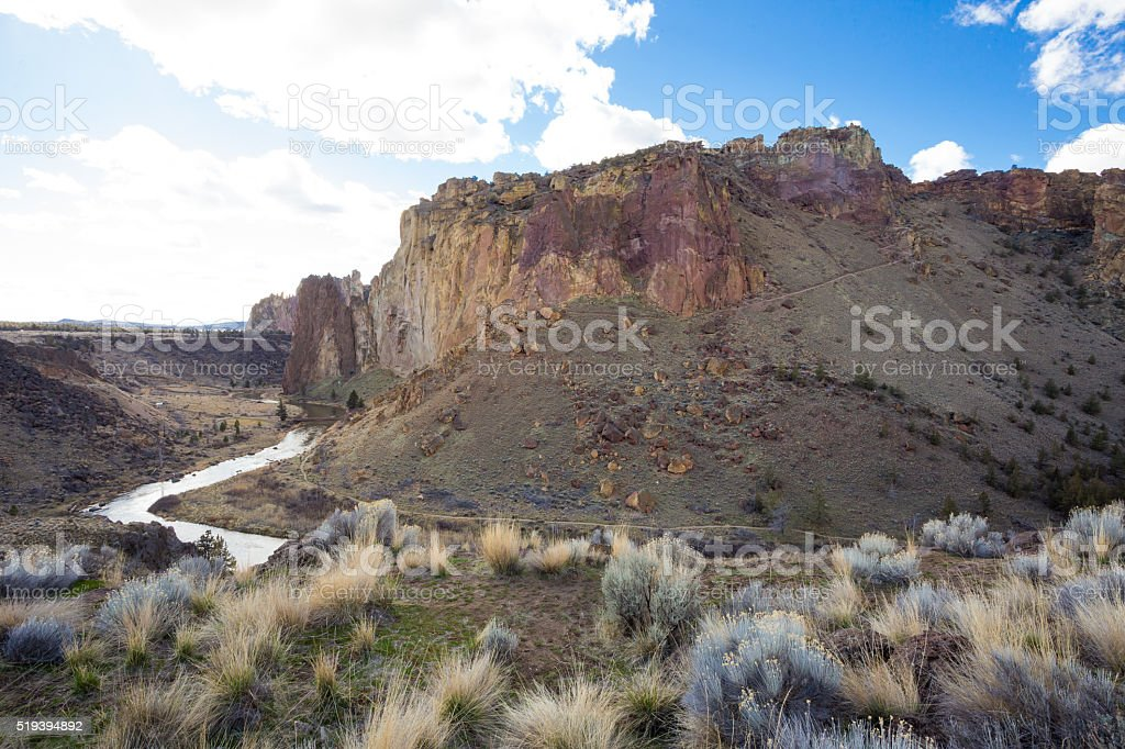 Smith Rock State Park in Oregon stock photo