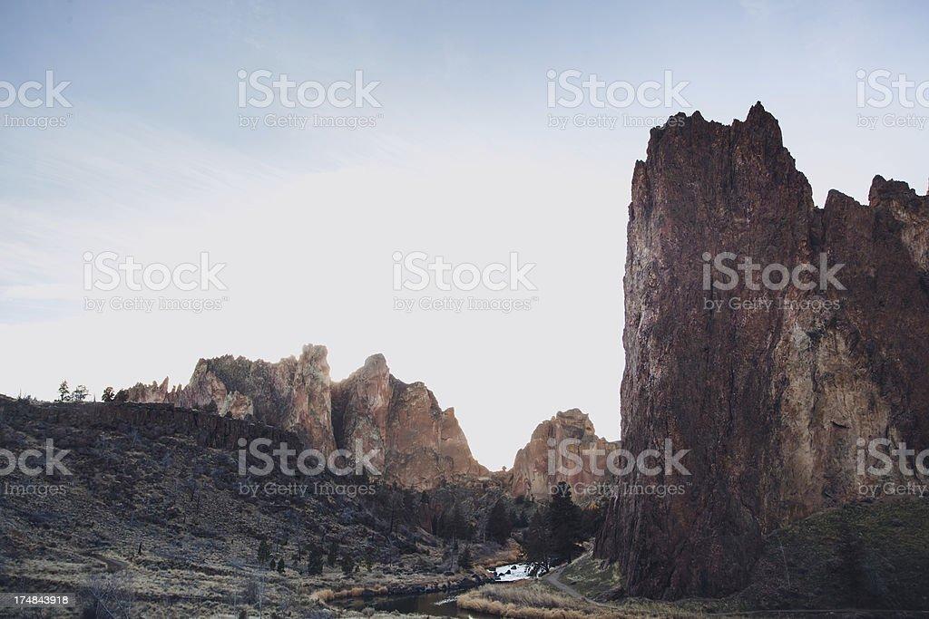 Smith Rock State Park Oregon Natural Landmark Sunset stock photo