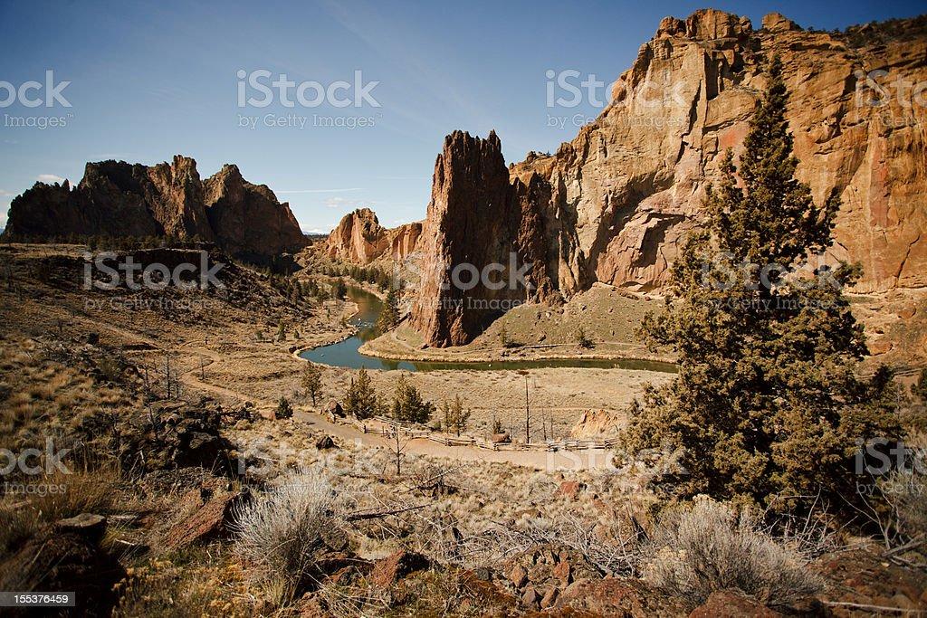 Smith Rock State Park stock photo